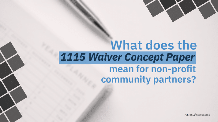 CBOs and the 1115 Waiver Concept Paper